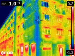 Termogram FLIR měření budov