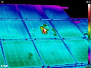 Termografická diagnostika solárních panelů